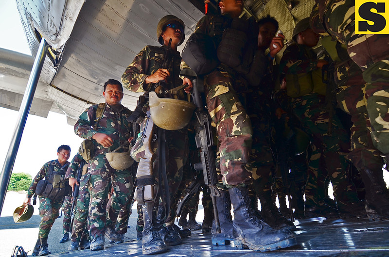 Soldiers bound for Basilan