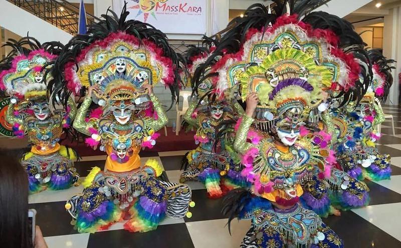 Masskara festival dancers