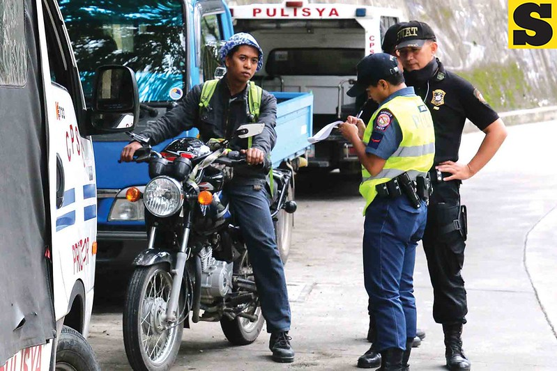 Police checkpoint