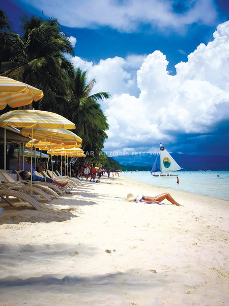Boracay beach in Philippines