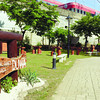 REST. The walkway has benches where strollers can take a rest. (Allan Defensor)