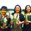 The Sun.Star Media Group wins six awards at the 2012 Civic Journalism Community Press Awards. From left, Sun.Star Davao editor-in-chief Stella Estremera and Sun.Star Cebu's executive editor Michelle So and managing editor for special pages and features Cherry Ann Lim hold the trophies for Best Editorial Page, Best in Photojournalism, Best in Culture and Arts Reporting, and Best in Climate Change and Biodiversity Reporting won by Sun.Star Cebu; and Best Edited Community Newspaper and Best in Business and Economic Reporting won by Sun.Star Davao. Lim also holds Sun.Star Cebu's trophy for best exhibit on climate change and biodiversity. The awarding was held at the New World Hotel in Makati City on June 14, 2013. (SUN.STAR FOTO)