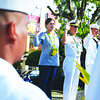 DAVAO. Mayor Sara Duterte-Carpio along with Naval Forces Eastern Mindanao commander Commodore Antonio Habulan Jr., lead the flag raising ceremony during Wednesday's 115th Independence Day celebration at Rizal Park. (King Rodriguez of Sun.Star Davao)
