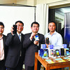 NEW DEVICES. ZTE Philippines terminal department head Ken Fang (right) and ZTE Philippines president James Chen lead the launching of the company's new Android devices in Cebu. (Jonolin Luab of Sun.Star Cebu)