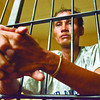Suspect Charlie Alburo deatiend at Parian Police station detention cell after he box RTC judge Mario Trinidad at D. jakosalem street, Barangay Zapatera,Cebu City.......( Sunstar-Amper Campaña    6 2 2013 )