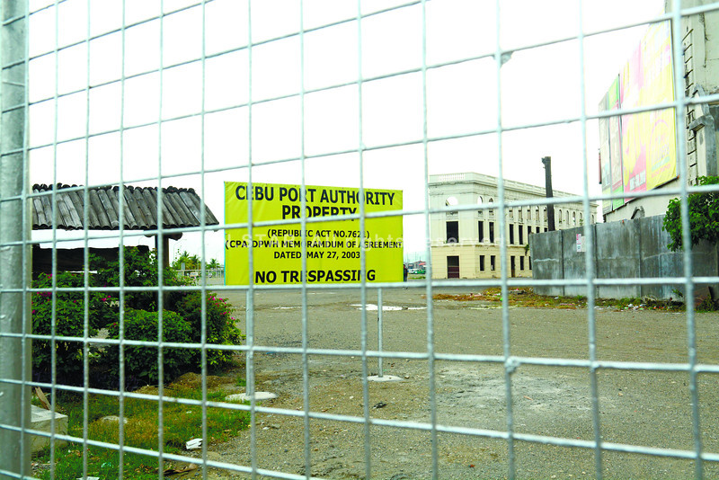 Cebu Port Authority claims a reclaimed area near the old Compania Maritima building
