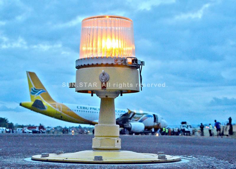 Davao runway lights turned on