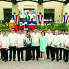 Cebu City mayor Mike Rama  pose together with the councilors  before  his State of the City address at the session hall.<br /> <br /> ssd foto/allan defensor