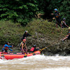 CAGAYAN DE ORO. River guides of Kagay Journey-White Water Rafting and Kayaking search for a guest who had gone missing Friday, June 13, after the raft she was on with four others capsized. This photo was taken on June 14, 2014. (Photo by JB R. Deveza)
