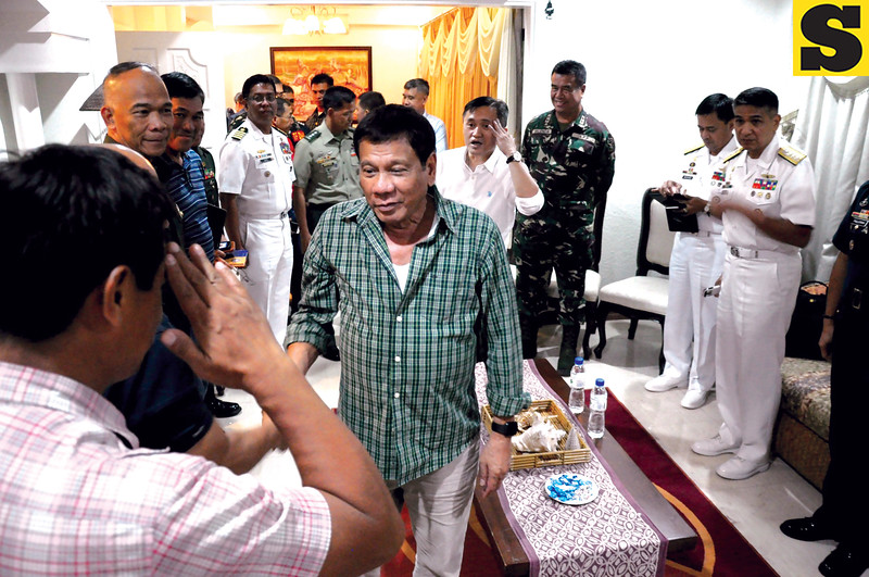 President-elect Rodrigo Duterte meets with National Security officials