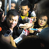 Rodrigo Duterte faces the media