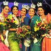 MANILA. (L-R) 3rd Princess Love Jordan, 1st Princess Mary Anne Misa, Ms. World Philippines 2012 Queeneerich Rehman, 2nd Princess Vanessa Ammann and 4th Princess Brenna Gamboa.(Glaiza Jarloc)