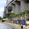 MAKE DO.Children, who cannot access the beaches in Lapu-Lapu City, try to be content with playing in the water under the Marcelo Fernan Bridge.(Sun.Star Photo/Allan Cuizon)