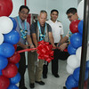 CAGAYAN DE ORO. New Simulator Center of the Philippines (NewSim) Chief Executive Officer Reynold Sabay (second from left) leads the ribbon cutting during the launching of the NewSim's Cagayan de Oro branch Saturday at the top floor of Imperial Plaza Building on Velez Street. (Joey P. Nacalaban)