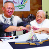 CEBU. Cebu Archbishop Jose Palma and Archbishop Emeritus Ricardo Cardinal Vidal show a scale model of the proposed structure to be built on the SRP where the thanksgiving mass for Pedro Calungsod's canonization will be held. (Arni Aclao)