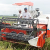 BACOLOD. Kubota's combined rice harvester and transplanter showed what it can do to modernize rice farming during a demonstration in Valladolid on Monday. (Sun.Star Bacolod photo)