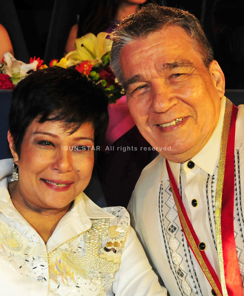 "MANILA. Director Mario O'Hara with Superstar Nora Aunor. The former directed the comeback project of Aunor entitled ""Sa Ngalan ng Ina"" produced by TV5. (Photo from TV5)"