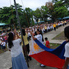 DAVAO. Students attend the first flag ceremony along with their advisers in the open field of A. Mabini Elementary School on Monday. (King Rodriguez)