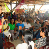 CAGAYAN DE ORO. Senatorial candidate Allan Peter Cayetano (standing) held a dialogue with Tropical Storm Sendong survivors at the Calaanan relocation site in Barangay Canitoan, Cagayan de Oro City on Monday. (Joey P. Nacalaban)