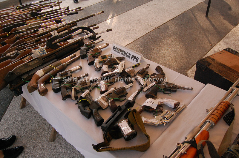 Loose firearms confiscated in Central Luzon