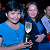 DUGANG AWARD. Si Sun.Star Davao editor-in-chief Stella Estremera, editorial supervisor Donna Cuyos, ug Sun.Star Superbalita managing editor Alger Dura nakitang malipayon dihang gikuhaan og hulagway human gidawat ni Estremera ang award sa Sun.Star Davao isip best local newspaper atol sa unang Blueknight Media Awards sa Ateneo de Davao University nga gihimo sa Finister Hall, Sabado sa gabii. (King Rodriguez)