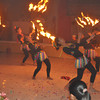Bataan policewomen performing a fire dance