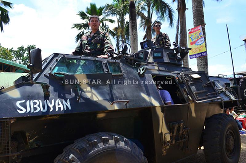 Troopers in Sagay City, Negros