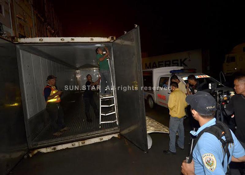 Container van seized in Davao City reveals cocaine bricks