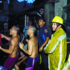 CEBU. Residents help put out a fire in Sitio Lahing-Lahing, Barangay Mabolo, Cebu City. As of Tuesday, 18 fires have been recorded by the Bureau of Fire Protection so far this March, Fire Prevention Month. (Arni Aclao)
