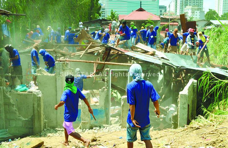 Demolition team members
