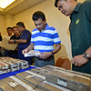 Davao City Mayor Rodrigo Duterte shows recovered cocaine bricks