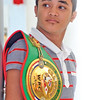 WBC Asian Boxing Council Continental featherweight champion John Vincent Moralde