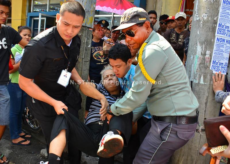 Elderly man rushed to hospital