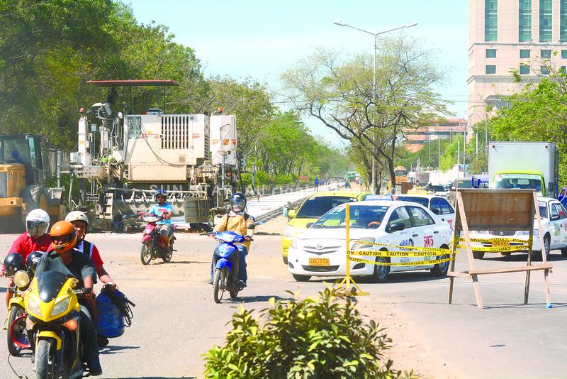 Road rehabilitation at Cebu port