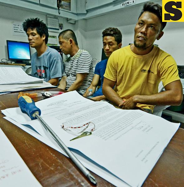 Assistant Cebu City Prosecutor Mary Ann Castro's companions
