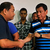 Davao City Mayor Rodrigo Duterte and Winston Garcia