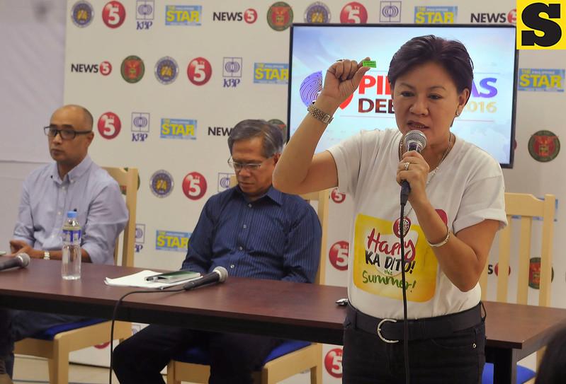 Cebu presidential debate press briefing