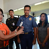 Lapu-Lapu City Mayor Paz Radaza surrenders gun
