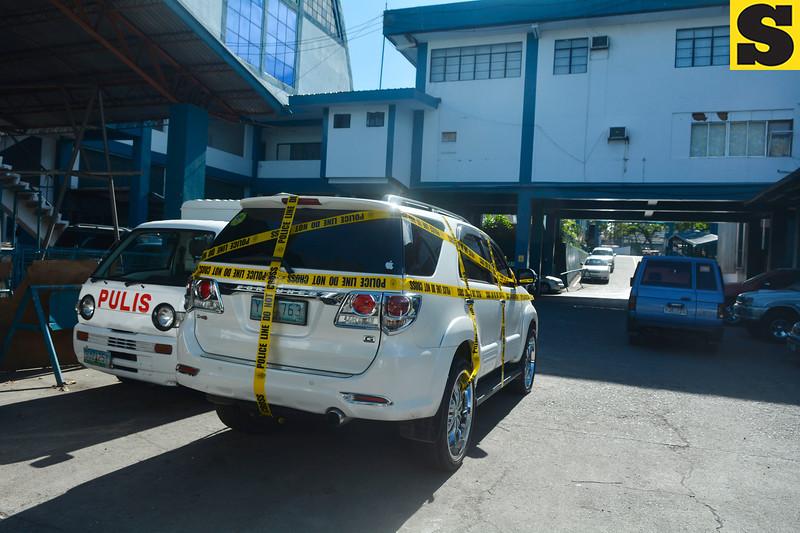 Assistant Cebu City Prosecutor Mary Ann Castro's car