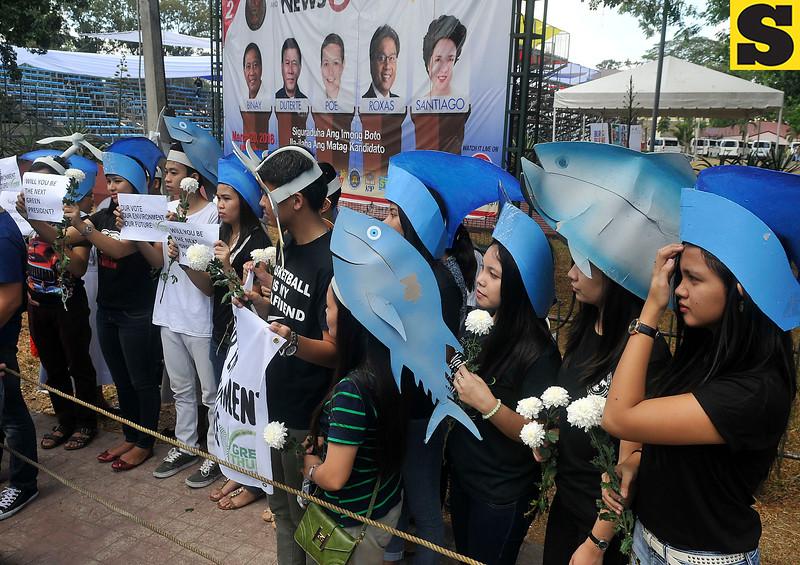 Environmental advocates witness Cebu presidential debate