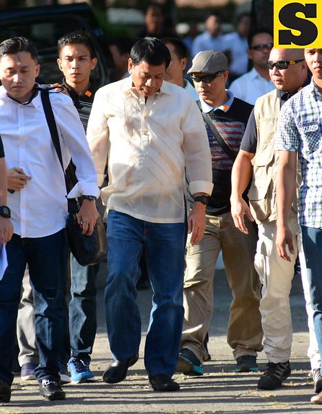 Rodrigo Duterte at Cebu presidential debate
