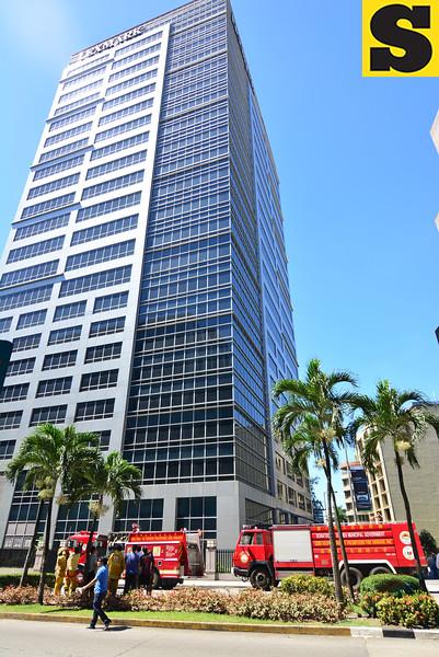 Fire at Lexmark Plaza I at the Cebu Business Park