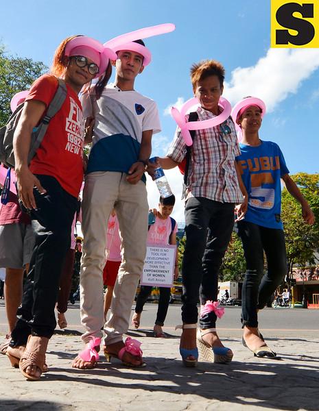 Boys in heels