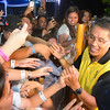 Mar Roxas greets his supporters