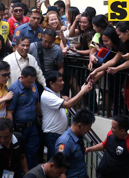 Rodrigo Duterte in Talisay City, Cebu