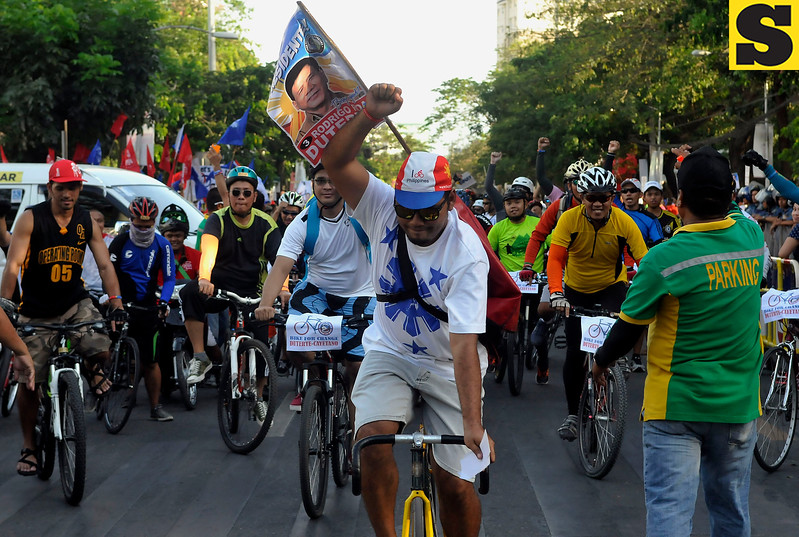 Bikers support Rodrigo Duterte