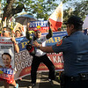 Rodrigo Duterte supporters at Cebu presidential debate