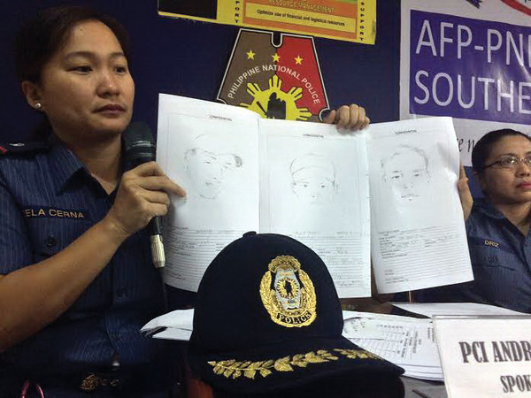 Cartographic sketches of suspects