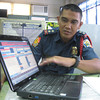 ZAMBOANGA. Zambanga City police investigation chief Senior Inspector Joel Tuttuh explains to reporters on Friday the mechanics of the e-blotter system. (Bong Garcia)
