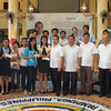 PAMPANGA. Twelve beneficiaries of the Alay Lakad Foundation receive their scholarship grants awarded by City of San Fernando Mayor Oscar Rodriguez last March 26. They are joined by city officials. (Jovi T. De Leon)